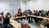 合同で「お好み焼きパーティ」を開催 (月曜日午前 国際センター教室と美浜公民館教室 )