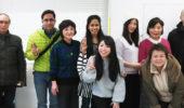 親睦会でジェスチャーゲーム(水曜午後教室)