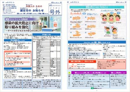 浦安市のお知らせ(やさしいにほんご)3月4日【号外】